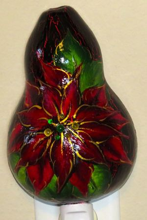 Sun3SJordanpoinsettia crackled night light light off 1